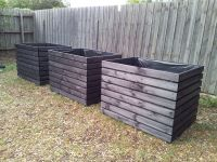 Extra large planter boxes, stained in black