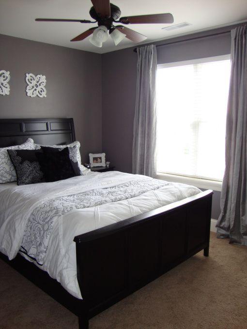 gray/purple guest room