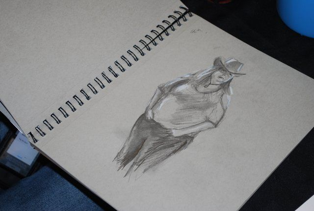 A Life Drawing Sketch Made At The Art Gym Open House! Opening