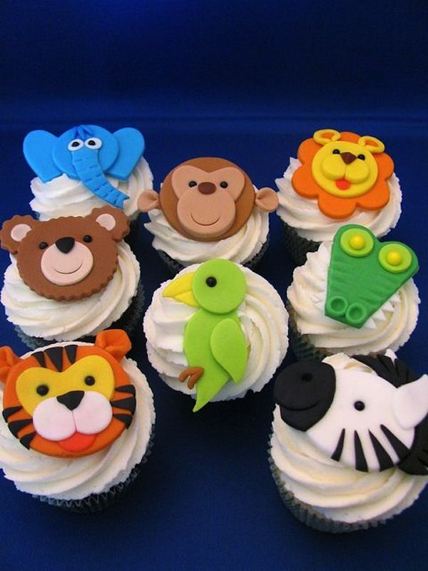 Shower Toppers Baby Cake Safari