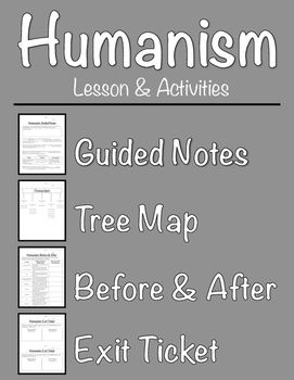 Humanism Lesson & Activities (Guide Your Students Through