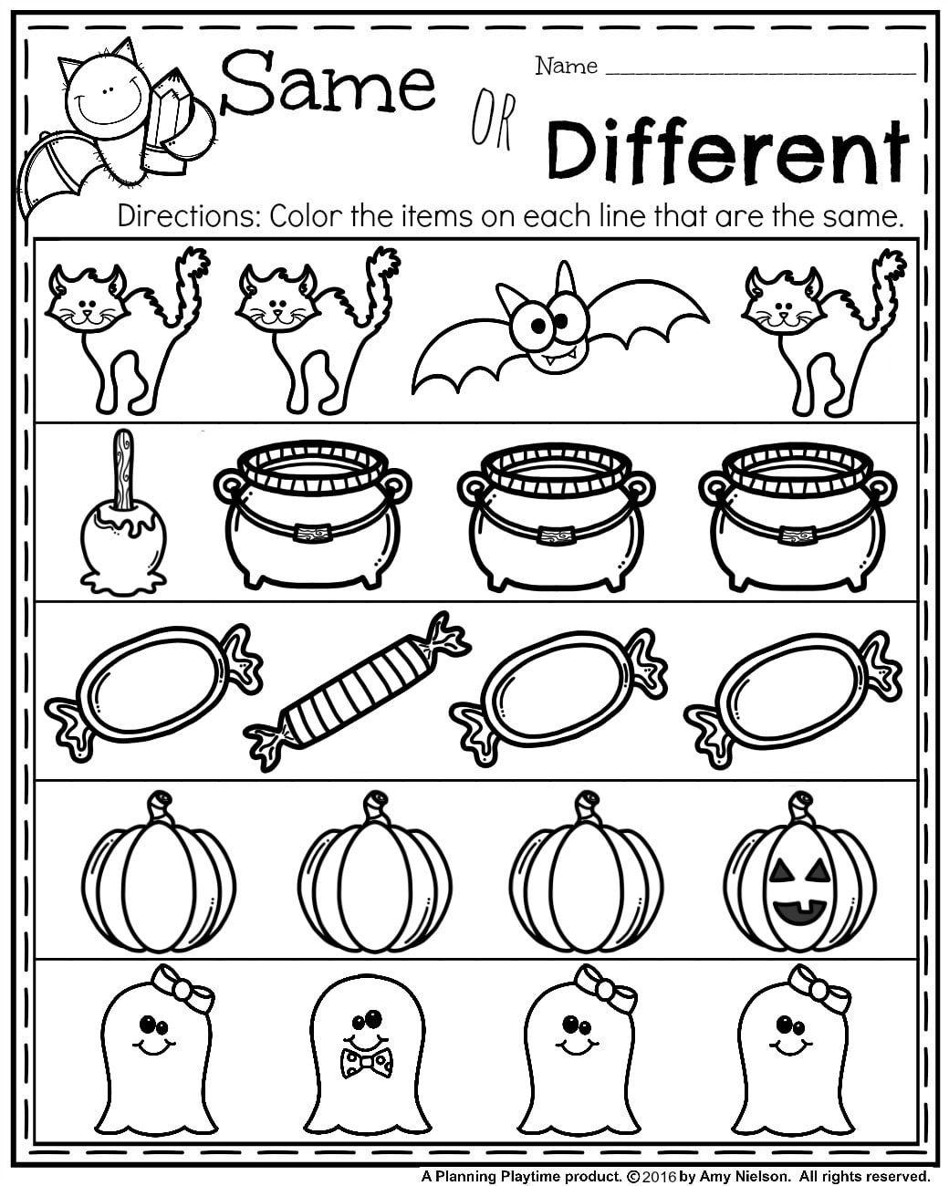 October Preschool W Ksheets W Ksheets October Nd Ctivities