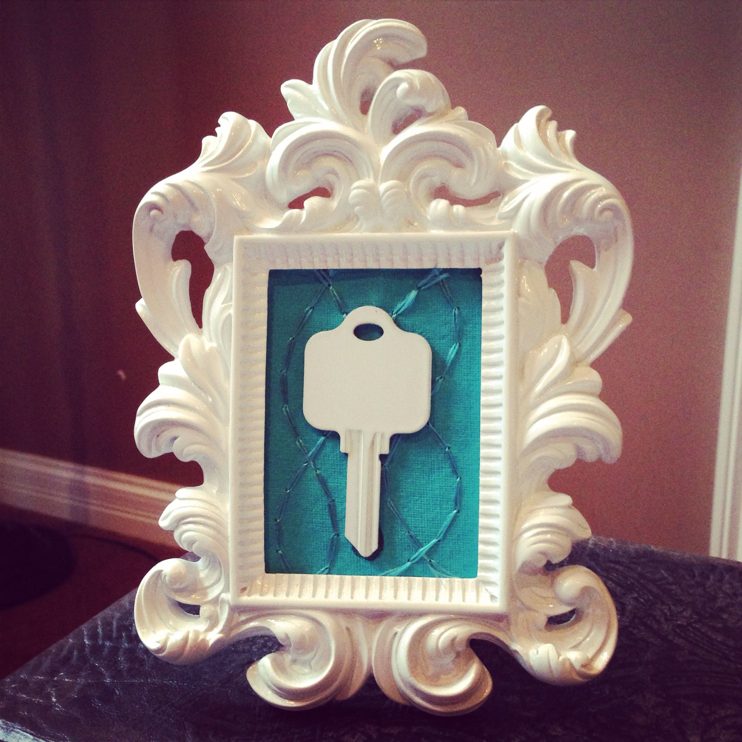 Framed House Key With Address And Closing Date The Perfect