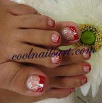 fingernail design white tips | Glitter Red Tips Powder ...