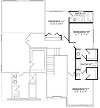 jack+and+jill+bathroom | Optional Second Floor with ...