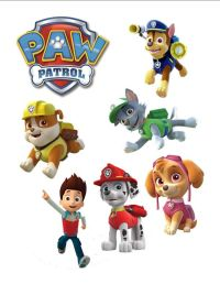 paw patrol edible cake decorations