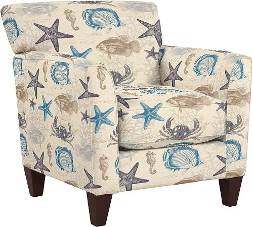 Upholstered Beach Fabric Accent Chairs And Ottomans By La