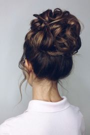 drop dead gorgeous messy updo hairstyle