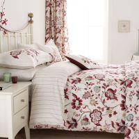 Red Floral Bedding | Sanderson Roslyn Bed Linen at Bedeck ...
