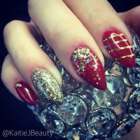 Nails By KaitieJ Beauty Christmas nails, stiletto nails ...