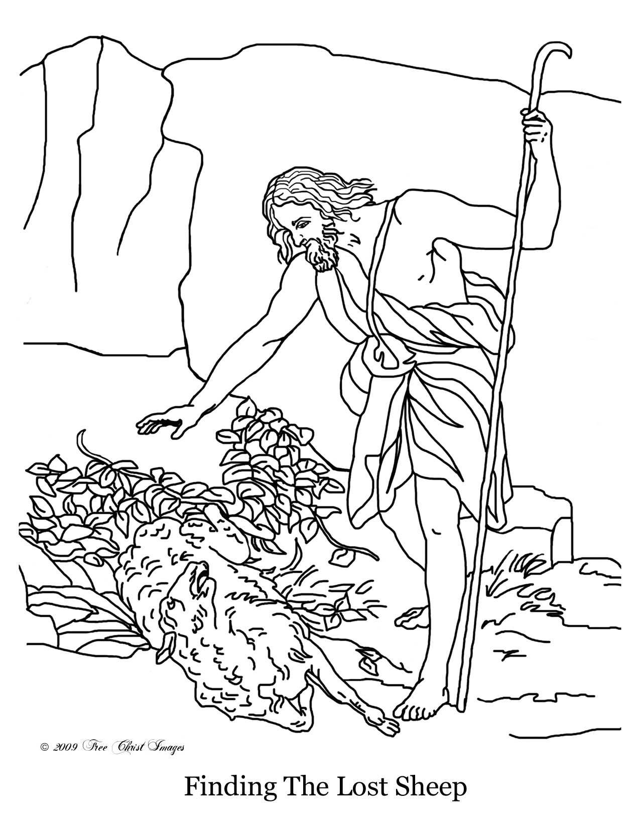 Christ Finding The Lost Sheep Primary 7 18