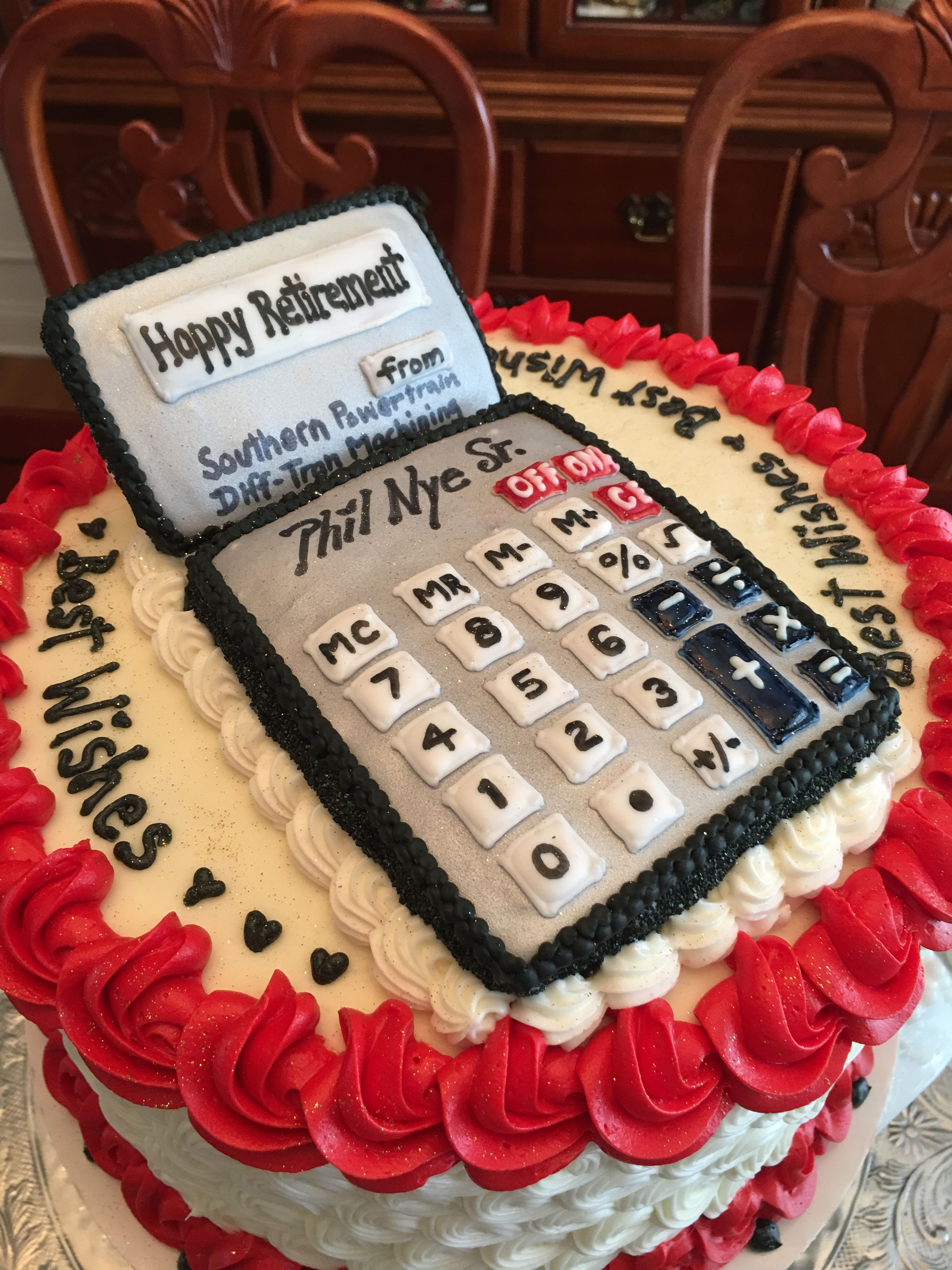 Retirement Cake For An Accountant
