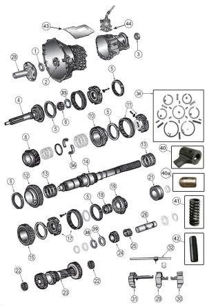 New Venture Gear NV3550 Transmission Parts | Jeep Liberty