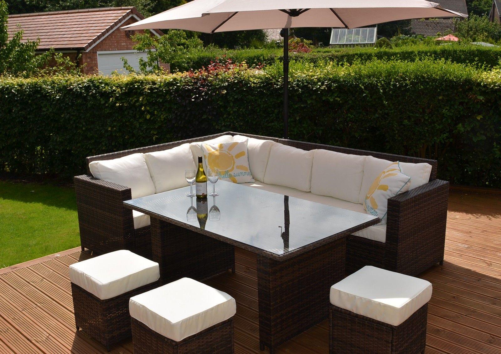 garden corner sofa with dining table steel set designs price in india black rattan