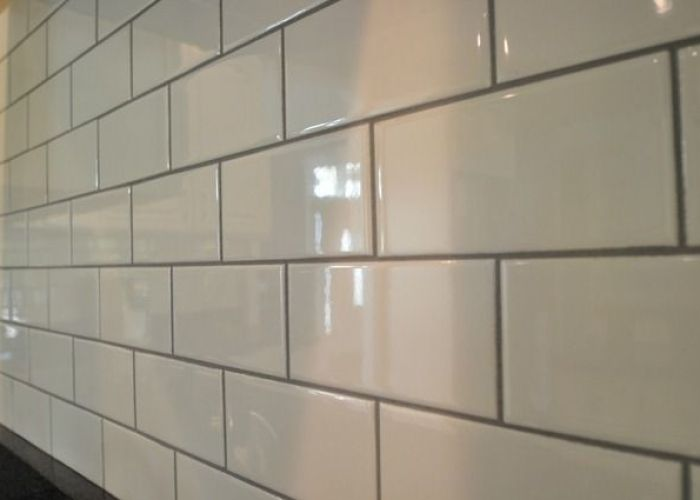 Kitchen backsplash subway tile edition also white with light grey grout bathroom reno pinterest uk