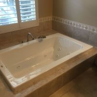 Drop-in jetted tub w/ MOEN Eva Roman tub spout & sprayer ...