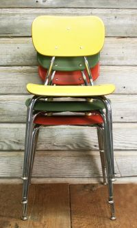 Vintage Mid-Century School Chair, Choose Your Color by ...