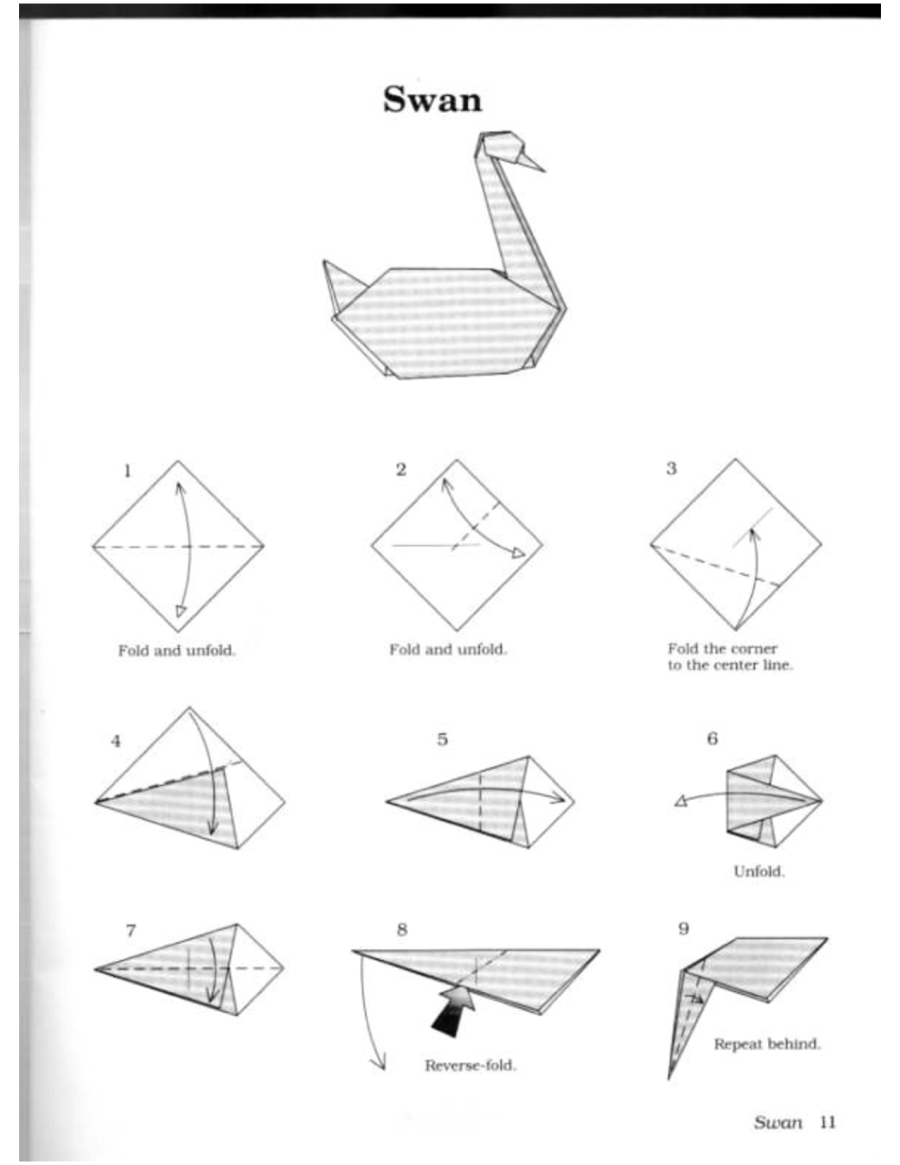 How to origami a swan - Origami Swan And