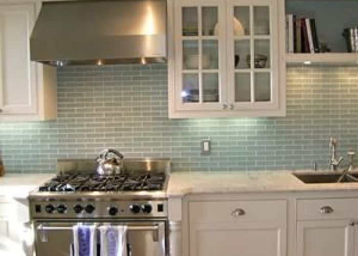 Colors white robin   egg blue and wood flooring by artistic designs for living glass tile also
