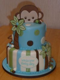 monkey | BABY SHOWER- cakes / cakepops | Pinterest | Baby ...