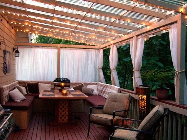 the lights the clear plexi roof the privacy