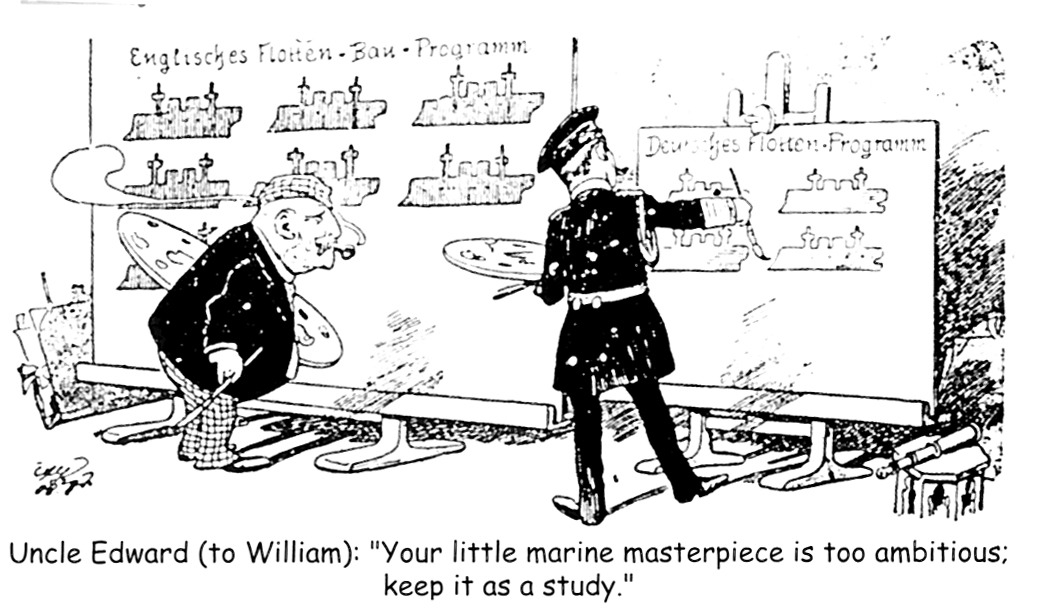 A British cartoon published in the early 20th century