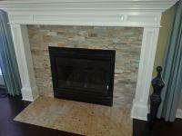 stack stone fireplace   Coastal Cottage Cool   Pinterest ...