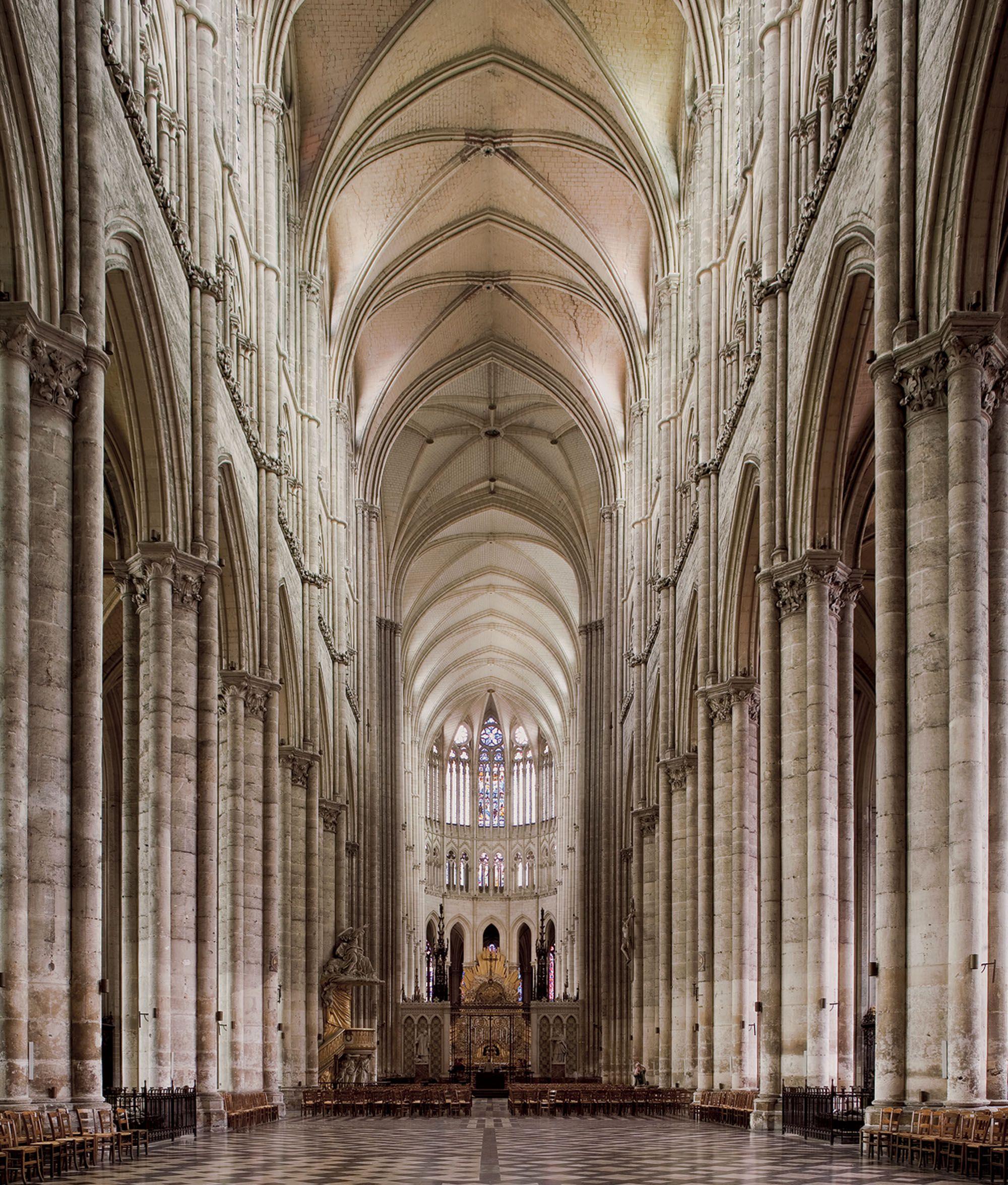 diagram of gothic church bulldog car wiring diagrams nave at amiens cathedrals pinterest