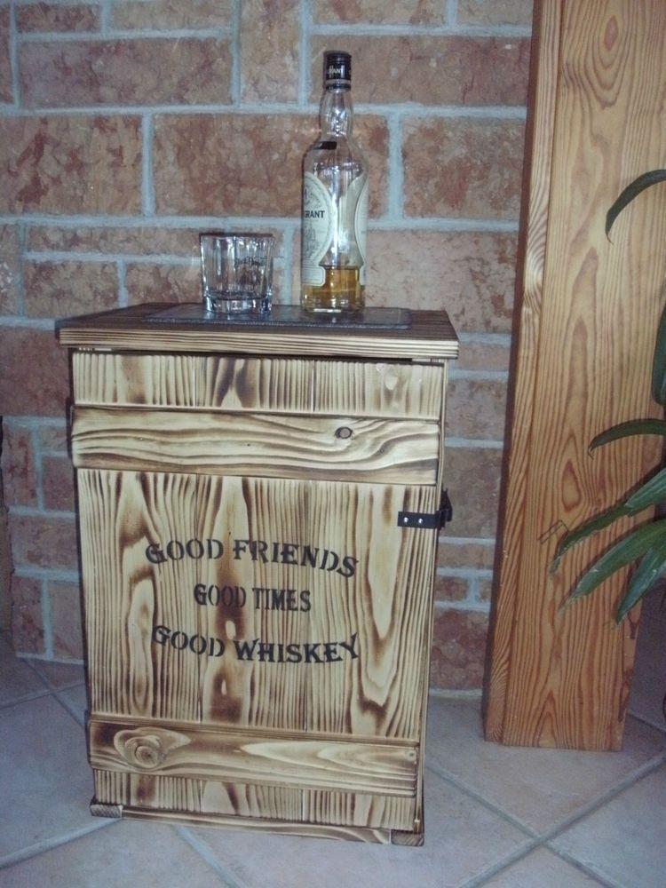 Shabby Frachtkiste Mini Bar Vin E Couchtisch Whiskey Tasting Schuhe Schrank