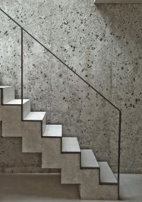 concrete stairs - residence in Munich Germany by Leonard ...