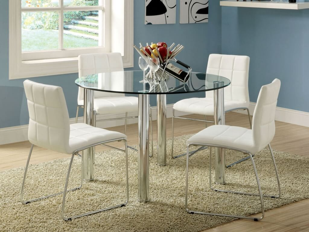 round glass dining table and chairs folding chair japan room marvelous white with