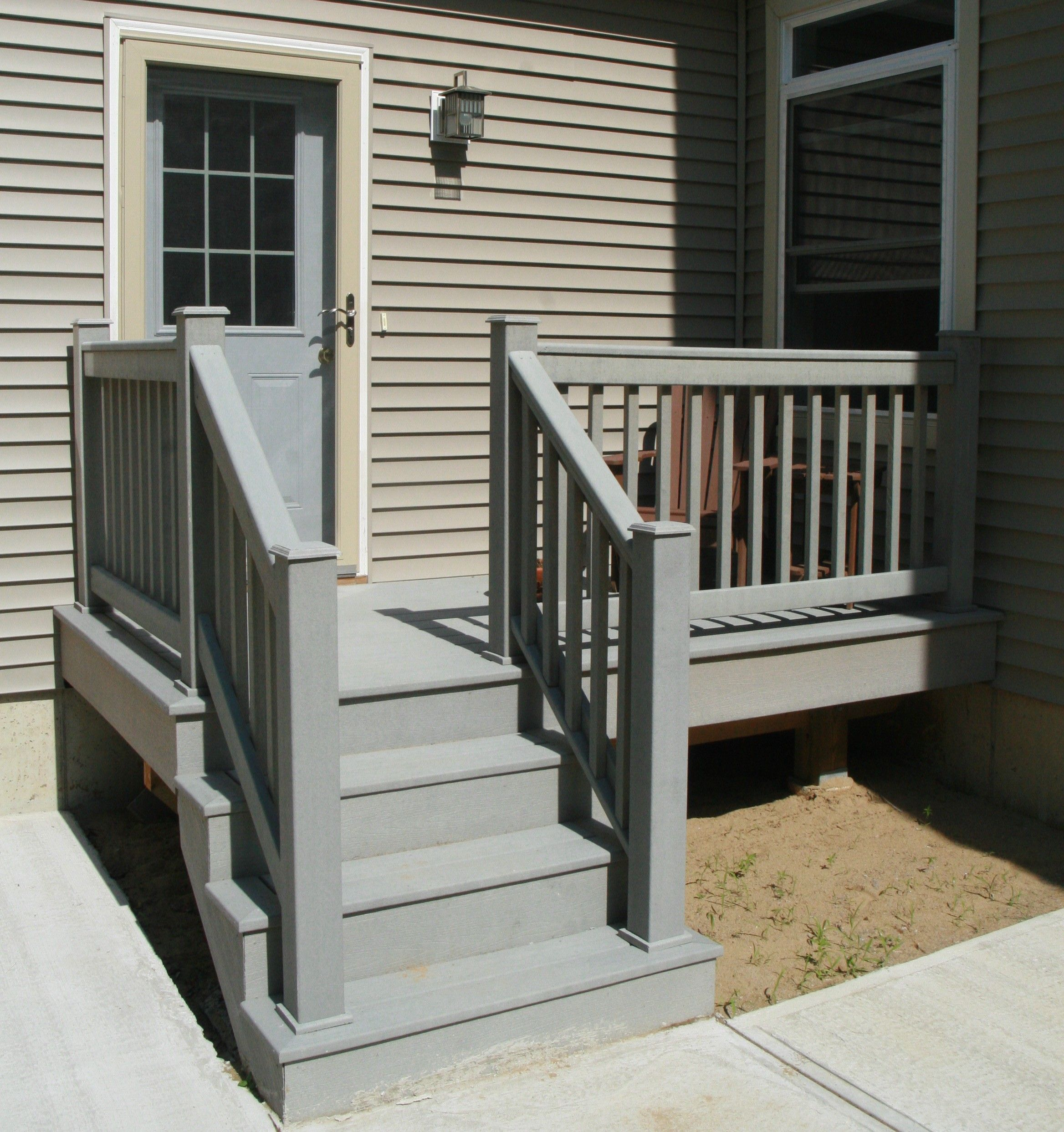 Composite Decking Simple Stairs Wood Stair Railingsfront Porch
