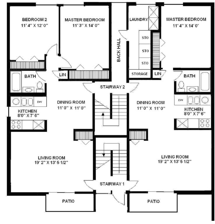 Apartment Building Floor Plans Personable Design Living