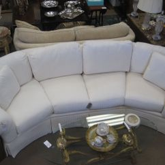 White Curved Sectional Sofa Ralph Lauren Tufted Leather Chesterfield Thomasville Revival Home Inventory