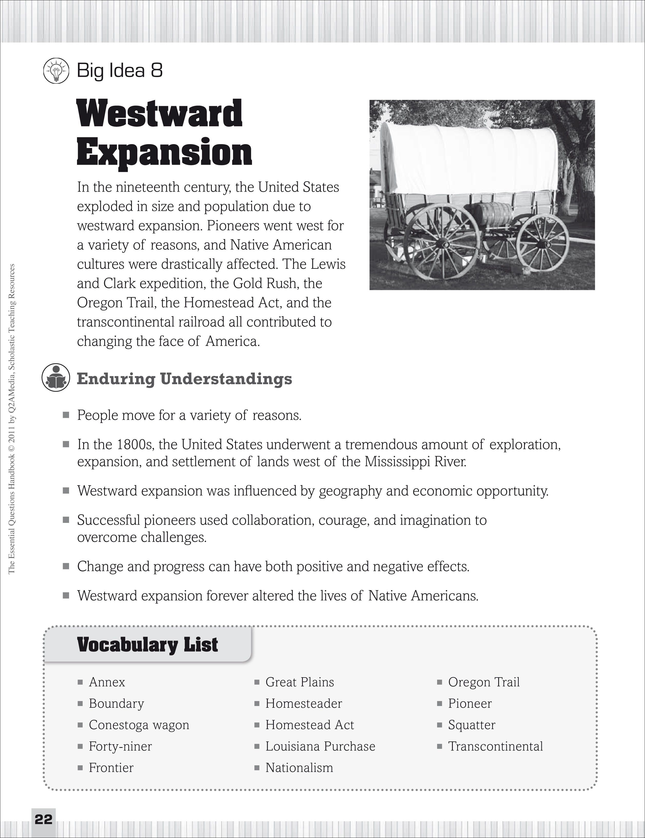 Printables Westward Expansion Worksheet Messygracebook