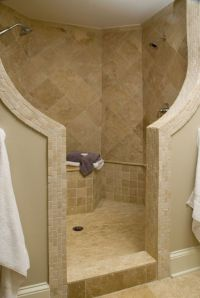 Bathroom , Ideas of Doorless Walk in Shower for Small ...