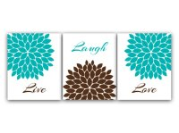 Home Decor Wall Art Live Laugh Love Turquoise by ...