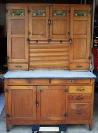 McDougall Hoosier Cabinet, Oak, Flour Sifter, Sugar Jar ...