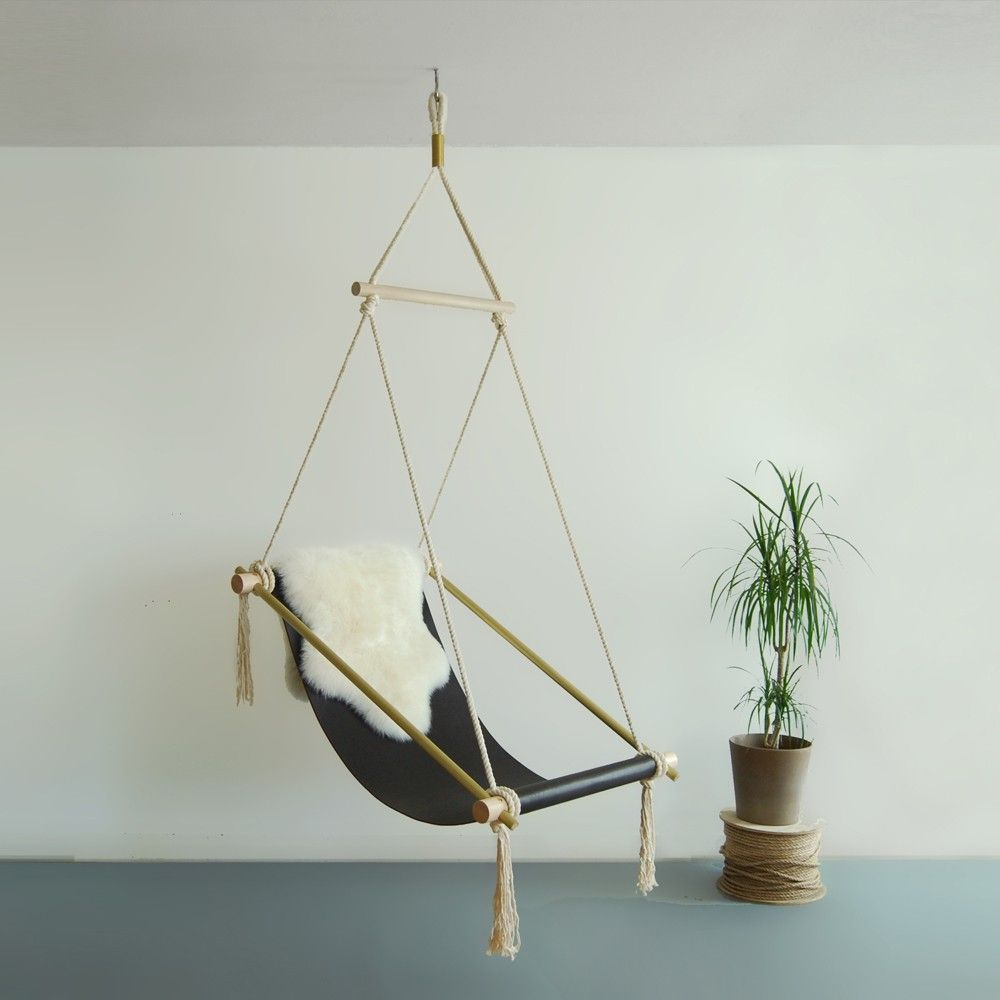 This hanging chair is like a chic indoor hammock  Swing