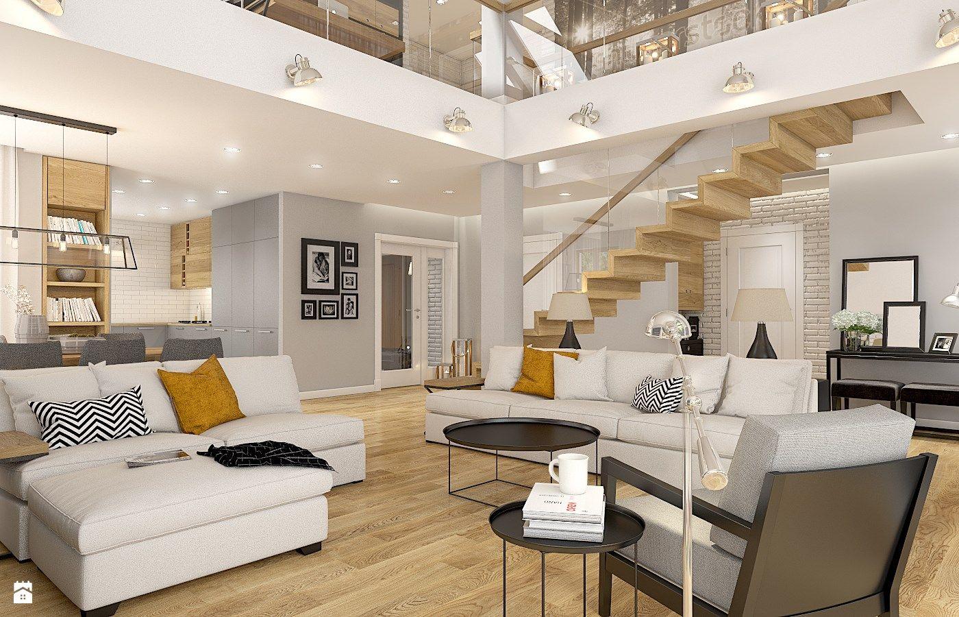 Dom w Milanwku  zdjcie od WERDHOME  Salon  Styl