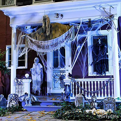 Create Your Spooky Front Door Scene With Halloween Decorating