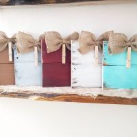 Rustic clothespin pallet wood picture frame. Photo hanger ...