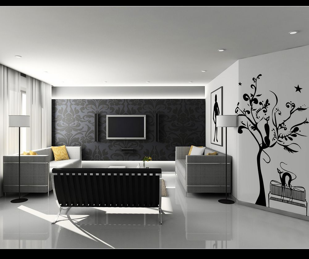 Gambar Hiasan Dinding Ruang Tamu Yang Unik dan Lucu  Gambar Hiasan Dinding  Pinterest