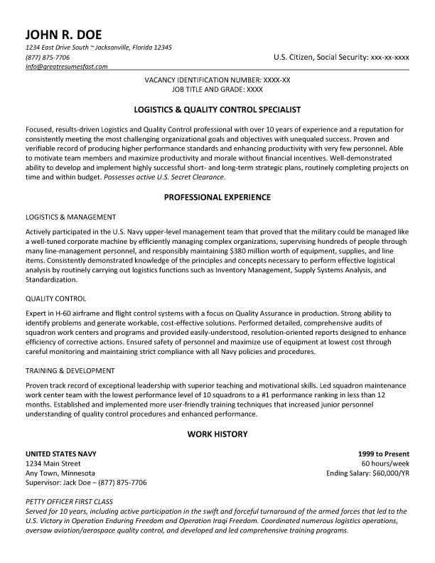 Government Resume Example And Template To Use #ResumeTemplate