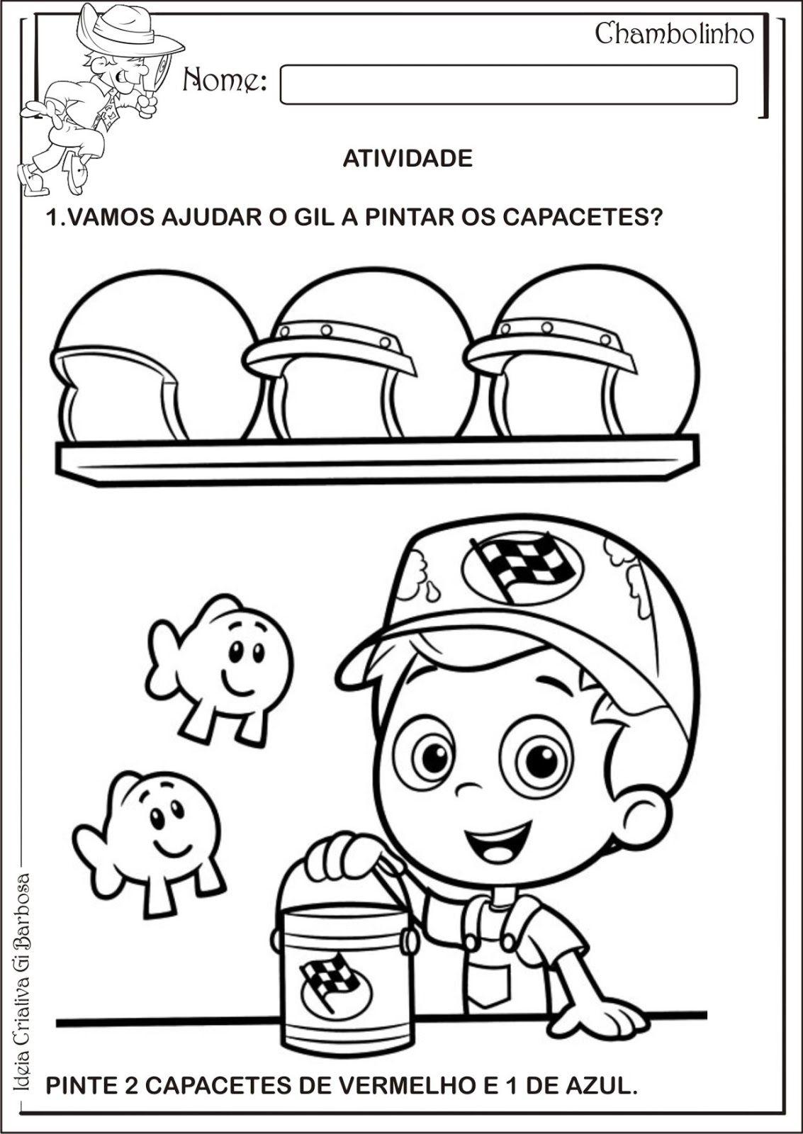 Projeto Educacao Infantil Cores Primarias
