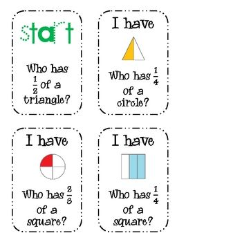 Fractions: A Packet of *Fun* Activities (halves, thirds