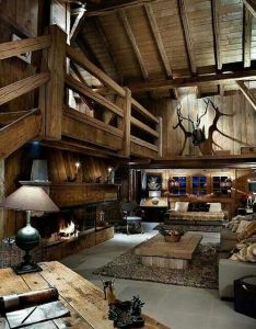 Love this interior also awesome log homes pinterest cozy cabin and rh