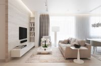While most of the furniture is composed of clean lines and ...