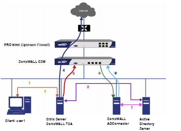 Network Diagrams Citrix Configuring SonicWALL TSA On Citrix