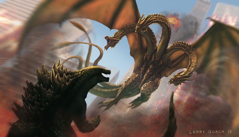 【備份】【哥吉拉怪獸介紹】三首龍王降臨 王者基多拉 - Wayne890925的創作 - 巴哈姆特